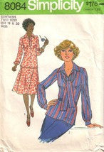 Vintage Simplicity 8084, Misses Skirt, Pullover Top, and Scarf, Size 18, 20 - Couture Service