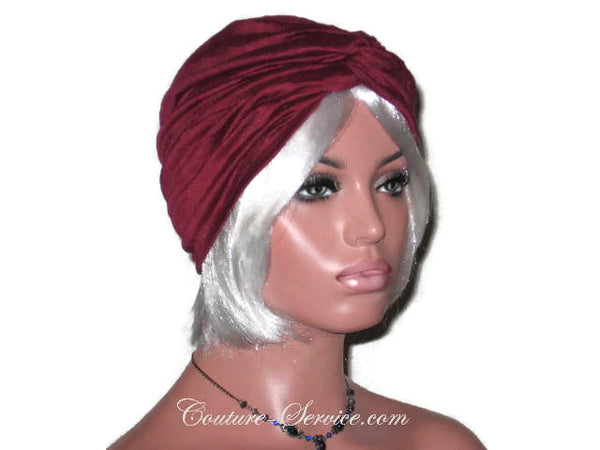 Handmade Wine Twist Turban, Crinkled Rayon