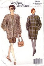 Vintage Vogue 8451, Misses Coat, Jacket, Sizes 12-16 - Couture Service