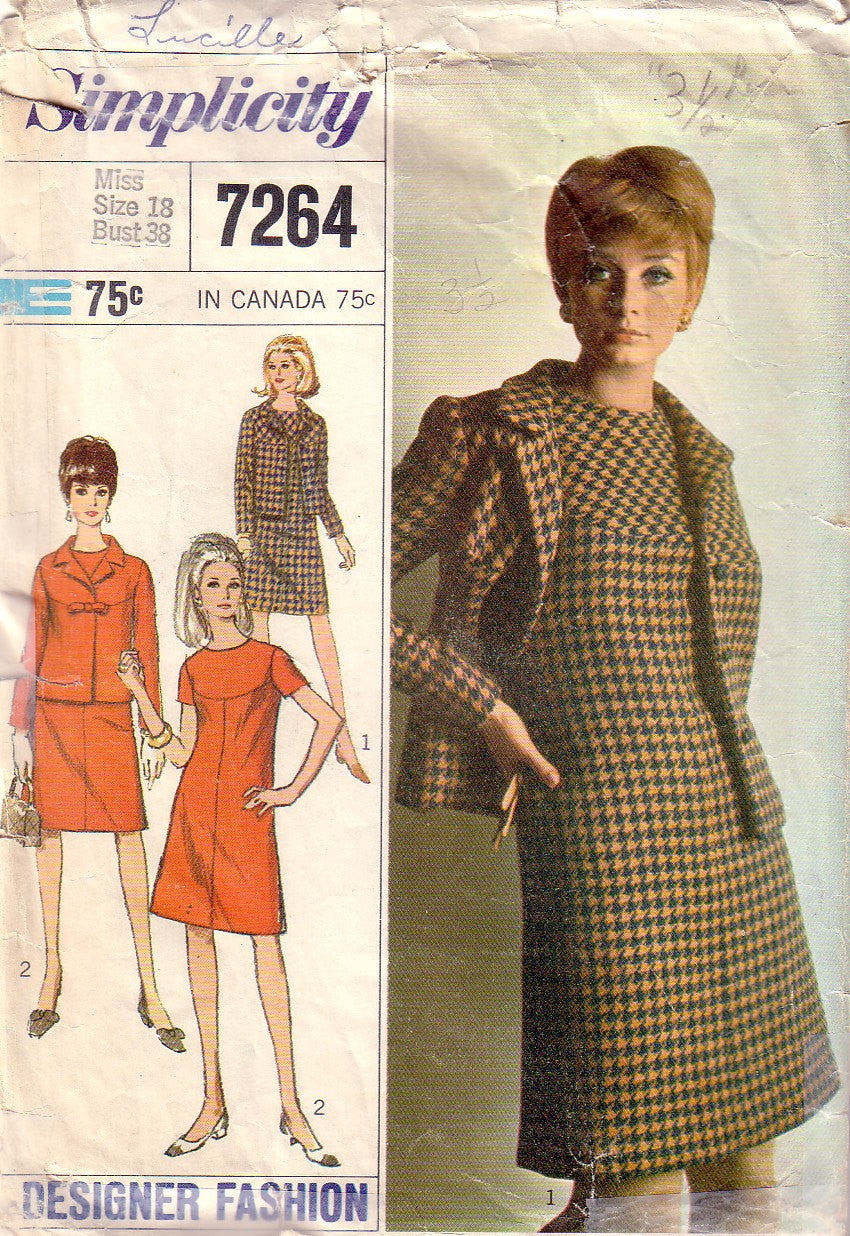 Vintage Simplicity 7264, Dress, Jacket, Size 18 - Couture Service  - 1
