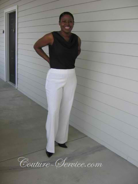 Handmade Women's Slacks, Natural, Size 16 - Couture Service