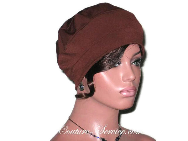 Handmade Brown Cap Turban - Couture Service  - 5