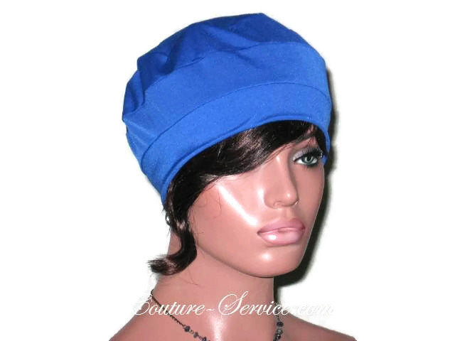 Handmade Blue Cap Turban, Royal - Couture Service  - 5