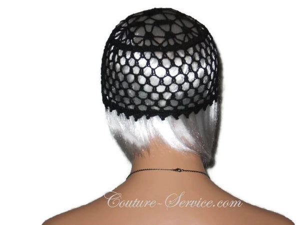 Handmade Picot Edge Lace Cloche, Black - Couture Service  - 2