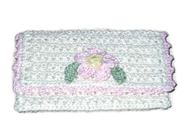 Handmade Crocheted Business Card Holder, Cream - Couture Service  - 2
