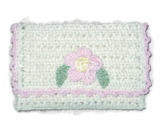 Handmade Crocheted Business Card Holder Cream Couture Service