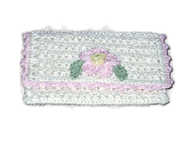 Handmade Crocheted Business Card Holder, Cream - Couture Service  - 1