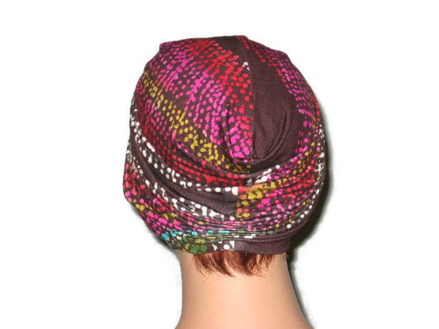 Handmade Brown Twist Turban, Abstract, Pink - Couture Service  - 3