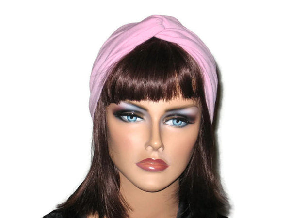Handmade Pink Twist Turban, Rose - Couture Service  - 1