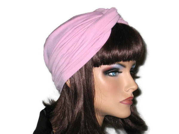 Handmade Pink Twist Turban, Rose - Couture Service  - 2