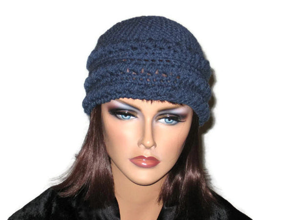 Handmade Crocheted Cloche, Blue, Pink, Green, Brown - Couture Service  - 4