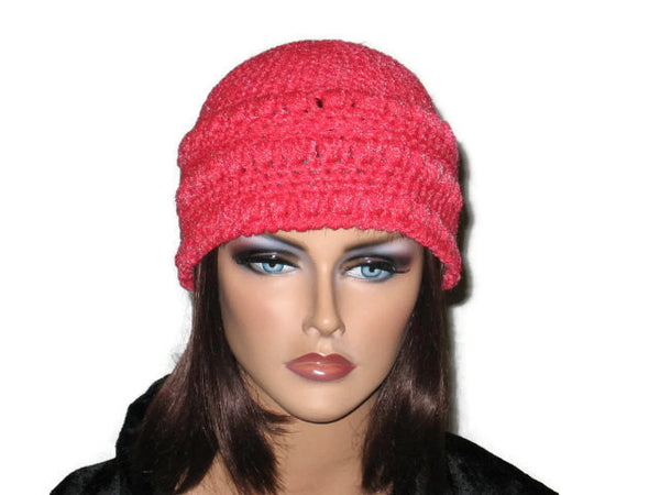 Handmade Crocheted Cloche, Blue, Pink, Green, Brown - Couture Service  - 1