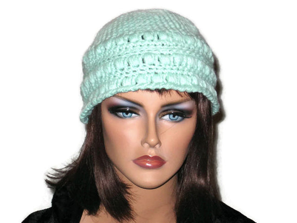 Handmade Crocheted Cloche, Blue, Pink, Green, Brown - Couture Service  - 3