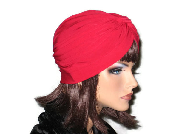 Handmade Red Banded Single Knot Turban - Couture Service  - 4