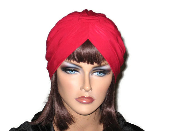Handmade Red Banded Single Knot Turban - Couture Service  - 1