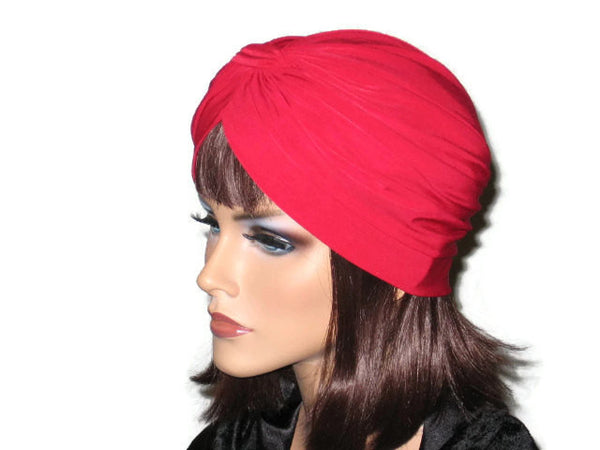 Handmade Red Banded Single Knot Turban - Couture Service  - 2