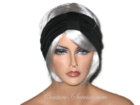 Handmade Black Headband Knot Turban - Couture Service  - 1