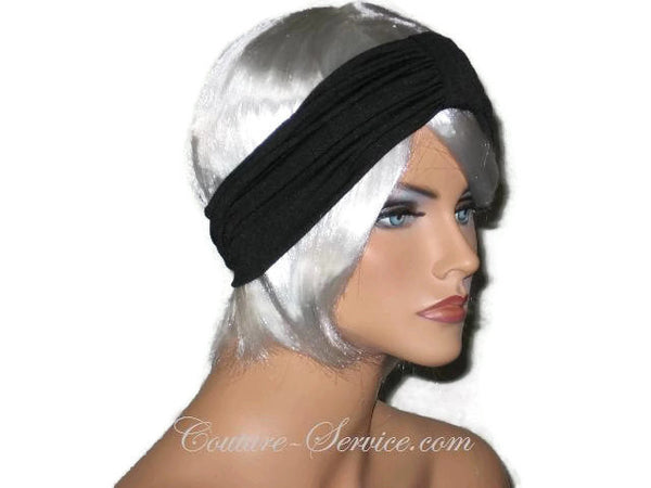 Handmade Black Headband Knot Turban - Couture Service  - 2