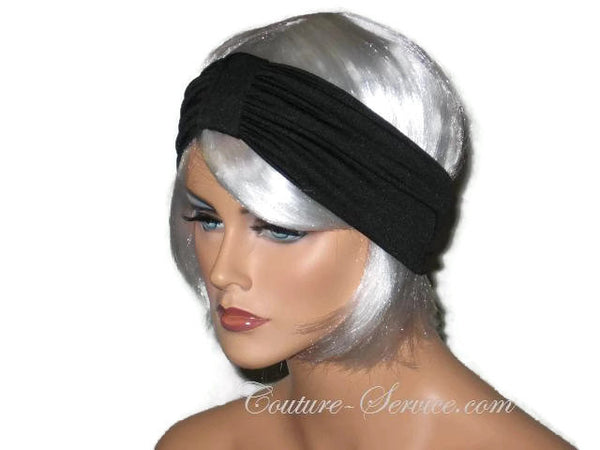 Handmade Black Headband Knot Turban - Couture Service  - 4