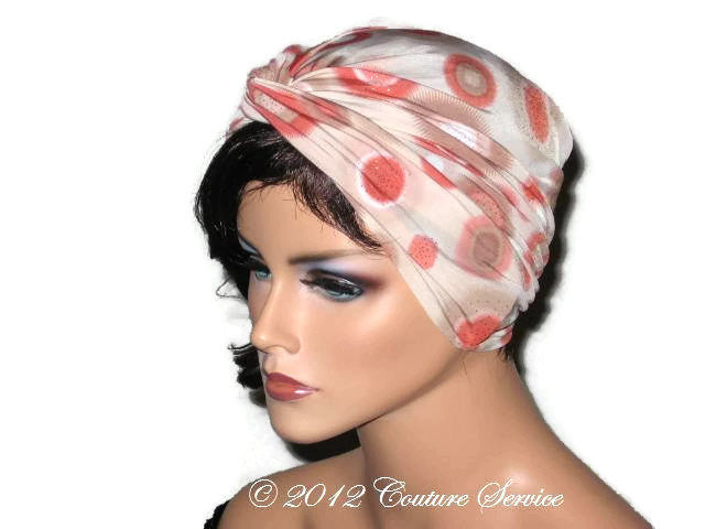 Handmade Rust Twist Turban, Abstract, Tan - Couture Service  - 2