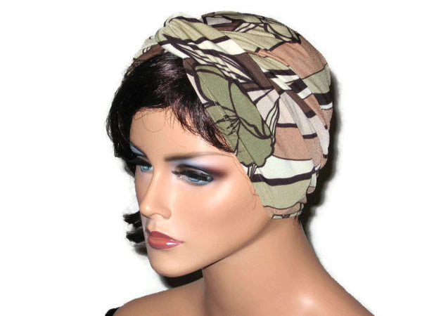 Handmade Tan Twist Turban, Abstract, Brown - Couture Service  - 2