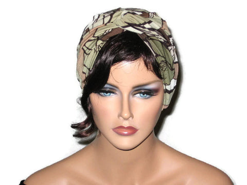 Handmade Tan Twist Turban, Abstract, Brown - Couture Service  - 1