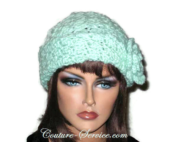 Handmade Crocheted Mint Green Cloche - Couture Service  - 1