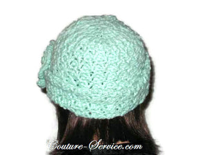 Handmade Crocheted Mint Green Cloche - Couture Service  - 3