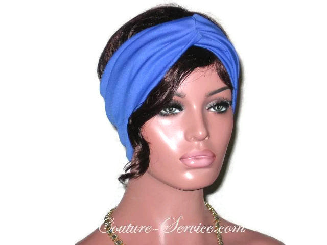 Handmade Blue Bandeau Headband Turban, Royal - Couture Service  - 1