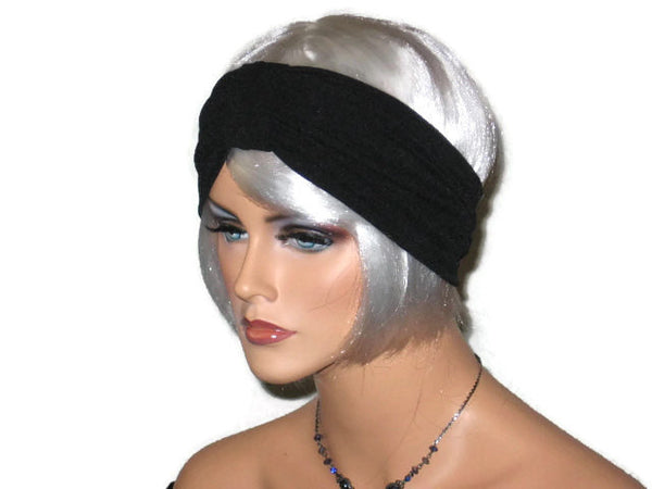 Handmade Black Knot Turban Headband, Textured - Couture Service  - 4