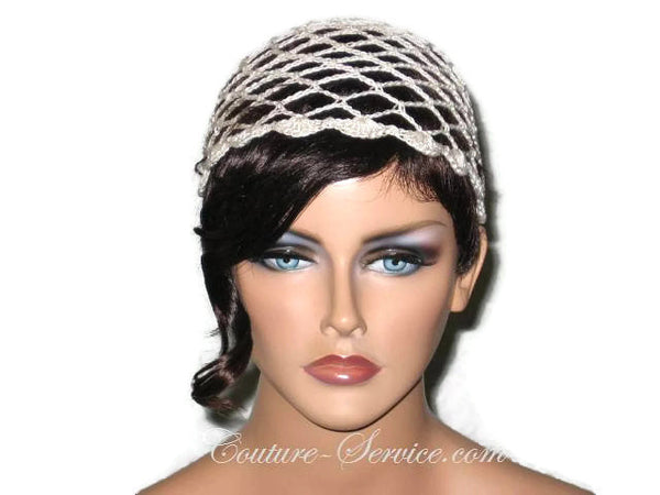 Handmade Scalloped Edge Lace Demi Cloche, Black, Green, Natural, White - Couture Service  - 2