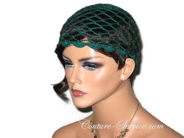 Handmade Scalloped Edge Lace Demi Cloche, Black, Green, Natural, White - Couture Service  - 3