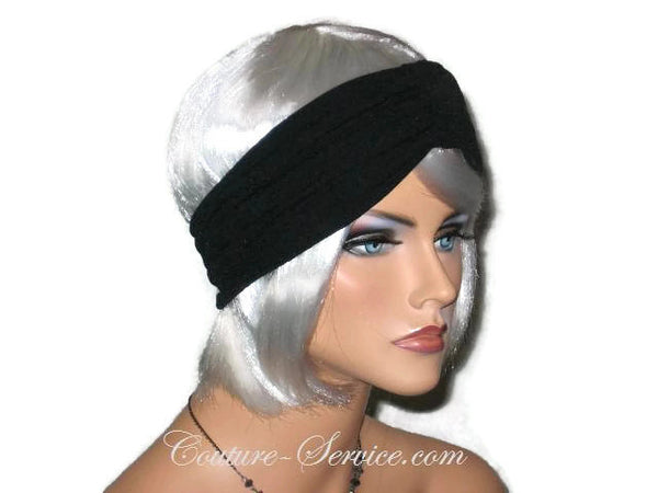 Handmade Black Knot Turban Headband, Textured - Couture Service  - 2