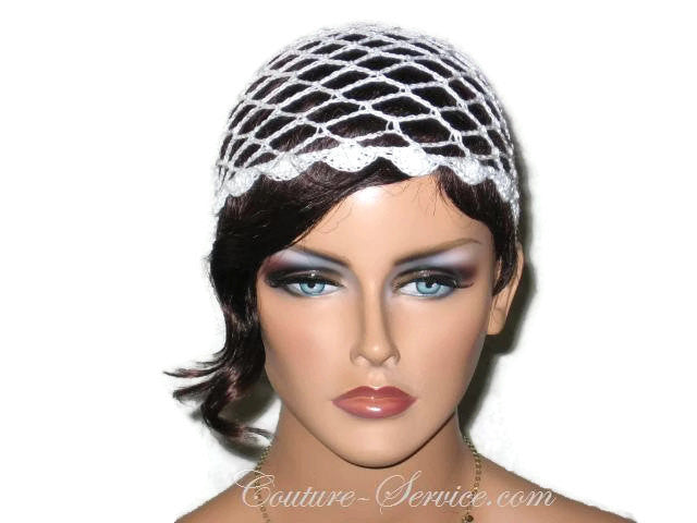 Handmade Scalloped Edge Lace Demi Cloche, Black, Green, Natural, White - Couture Service  - 1