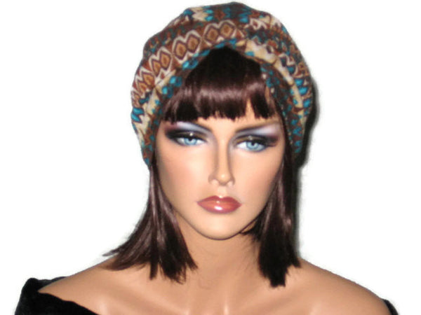 Handmade Brown Twist Turban, Abstract - Couture Service  - 1