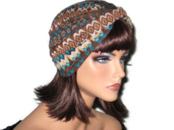 Handmade Brown Twist Turban, Abstract - Couture Service  - 3