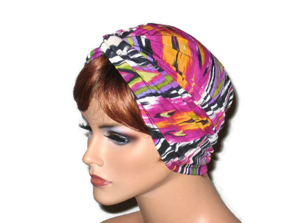 Handmade Pink Twist Turban, Abstract Magenta - Couture Service  - 2