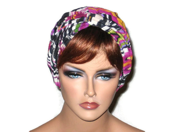 Handmade Pink Twist Turban, Abstract Magenta - Couture Service  - 1