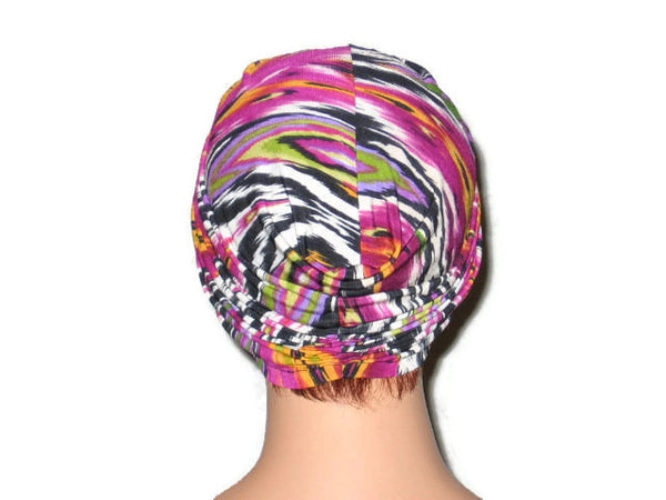 Handmade Pink Twist Turban, Abstract Magenta - Couture Service  - 3
