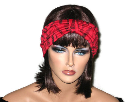 Handmade Red Turban Knot Headband, Black - Couture Service  - 1