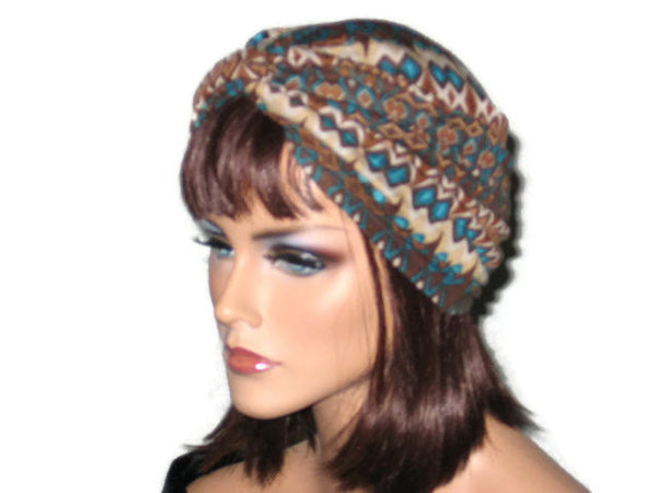 Handmade Brown Twist Turban, Abstract - Couture Service  - 2