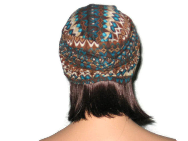 Handmade Brown Twist Turban, Abstract - Couture Service  - 4