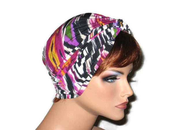 Handmade Pink Twist Turban, Abstract Magenta - Couture Service  - 4