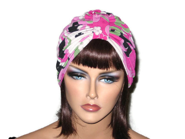 Handmade Pink Single Knot Turban, Abstract - Couture Service  - 1