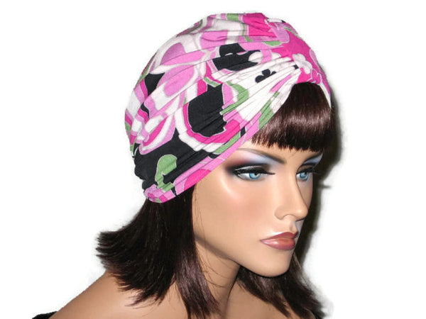 Handmade Pink Single Knot Turban, Abstract - Couture Service  - 2