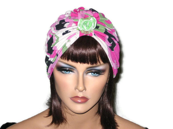 Handmade Pink Single Knot Turban, Abstract - Couture Service  - 5