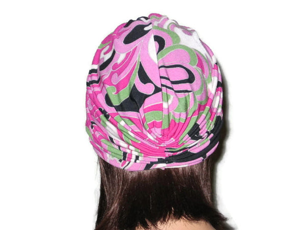 Handmade Pink Single Knot Turban, Abstract - Couture Service  - 3