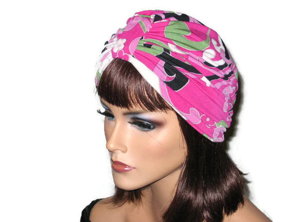 Handmade Pink Single Knot Turban, Abstract - Couture Service  - 4