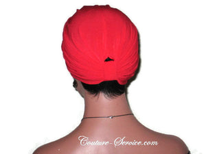 Handmade Red Double Knot Turban, Cardinal - Couture Service  - 4
