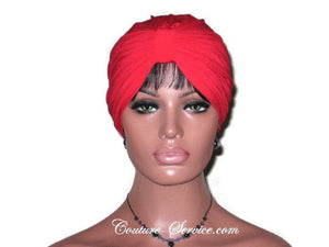 Handmade Red Double Knot Turban, Cardinal - Couture Service  - 2